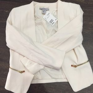 White with gold zipper H&M jacket size 4